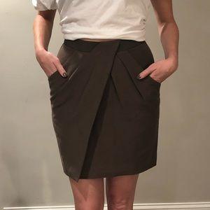 Brown Pleat Skirt